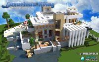 Epic minecraft giant modern house   Build-Modern ...