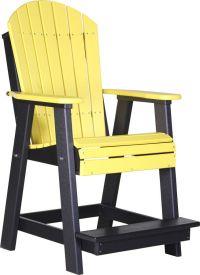 LuxCraft Recycled Plastic Adirondack Balcony Chair ...