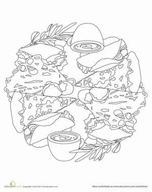 107 best Food Mandalas & Coloring images on Pinterest