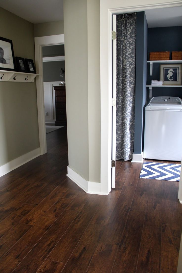 dark grey laminate flooring living room 2 console table ideas the yellow cape cod: how to transition between two ...