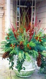 17 Best Images About Winter Container Gardens & Wreaths On