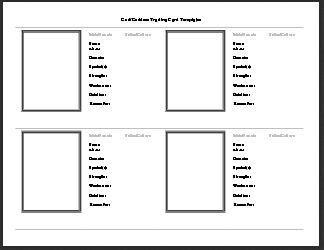 Gods and Goddesses Trading Card Templates from