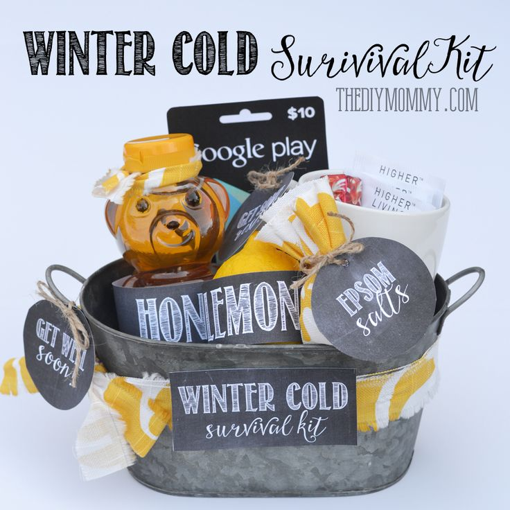 DIY Winter Cold Survival Kit A Get Well Soon Gift Basket