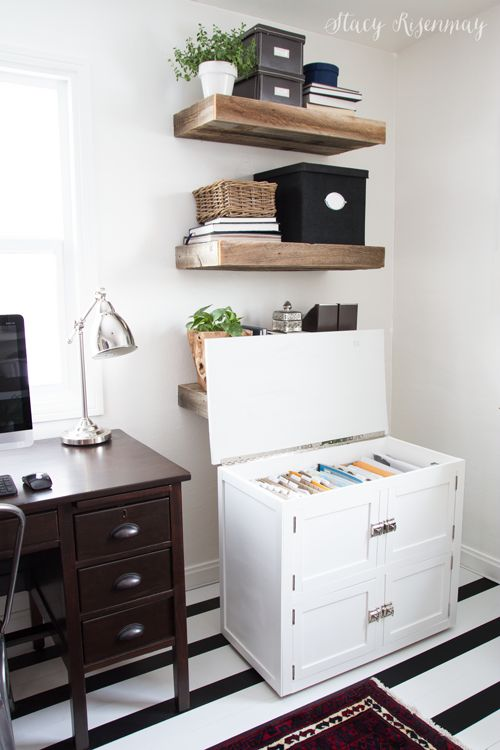 This cute cabinet is secretly a filing cabinet It rolls