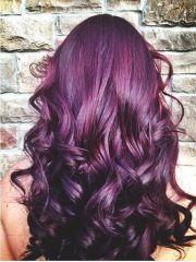 plum color hair and burgundy