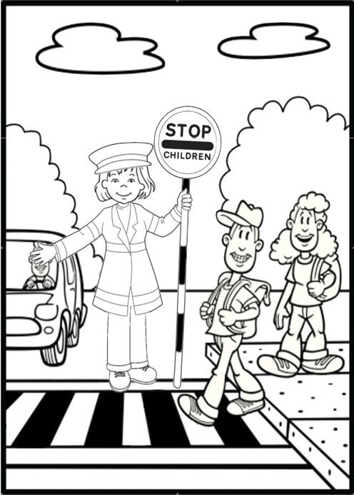 Street Safety Coloring Pages Sketch Coloring Page