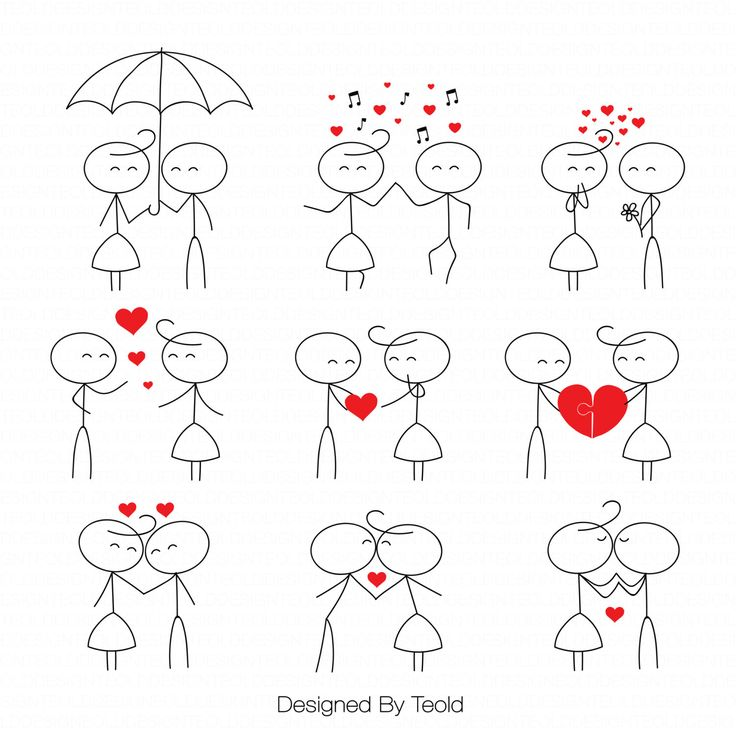 Stick figure people love wedding couple meeting cute