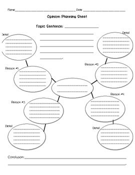 Students can choose either one of these planning sheets to