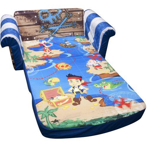toddler flip sofa cover rattan garden furniture uk marshmallow 2-in-1 open sofa, disney jake and the ...