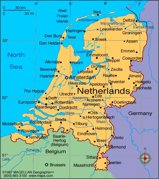 Netherlands Atlas Maps and Online Resources Infoplease