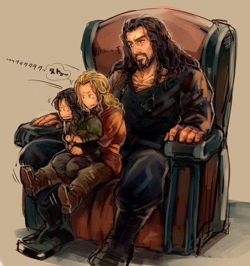 Thorin Fili and Kili Ahh Thorin HOT dwarf And those