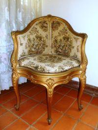 Antique corner chair, gold-England | stuff i like ...