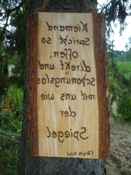 Holz SpiegelSchrift von Holz Kreativ auf DaWandacom