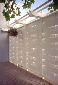 Deck privacy wall | Fencing | Pinterest | Decks, Backyards ...