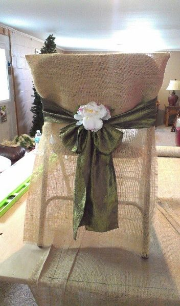 the cheap chair covers for folding chairs teak outdoor sydney 25+ best ideas about burlap sashes on pinterest | rustic chairs, ...