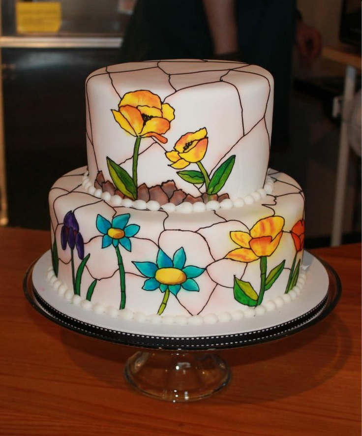 163 best images about stained glass cakes on Pinterest  Stained glass windows Stains and