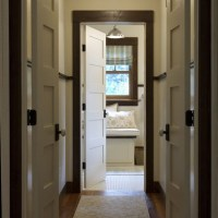dark brown trim interior house | Hall Photos Dark Trim ...