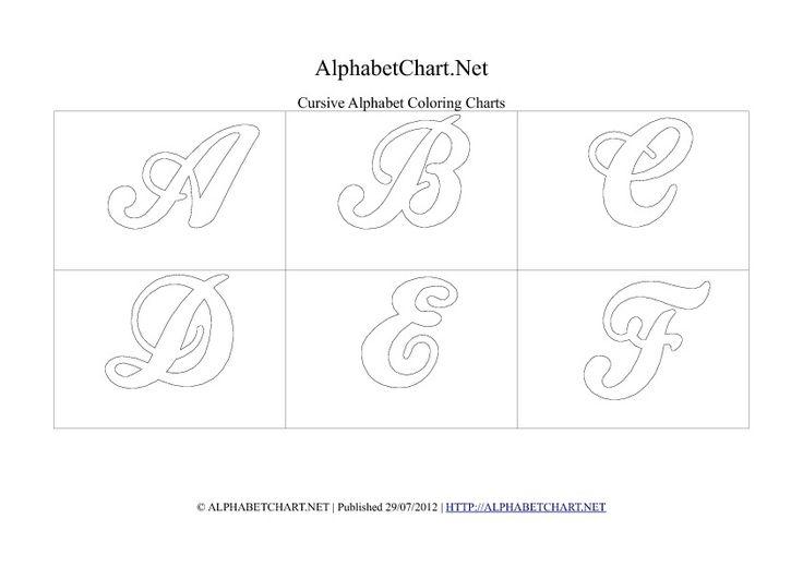 17 Best ideas about Cursive Letters Chart on Pinterest