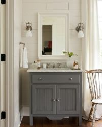 25+ best ideas about Gray bathroom vanities on Pinterest