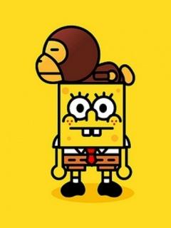 Bathing Ape Wallpaper Iphone X Spongebob Bob Bape A Bathing Ape Pinterest Bobs