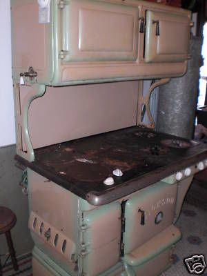 Antique Wood Coalgas 4x4 Dickson Stove 1920s 30s