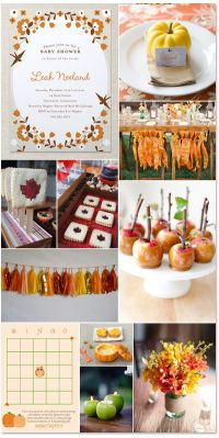 A festive fall baby shower! Great party ideas for any fall ...