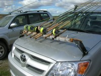 roof rack modified to make fly rod holder | Cool Fishing ...