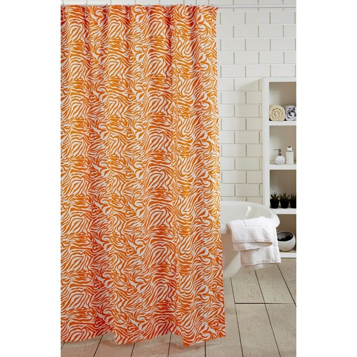 10 ideas about Orange Shower Curtains on Pinterest
