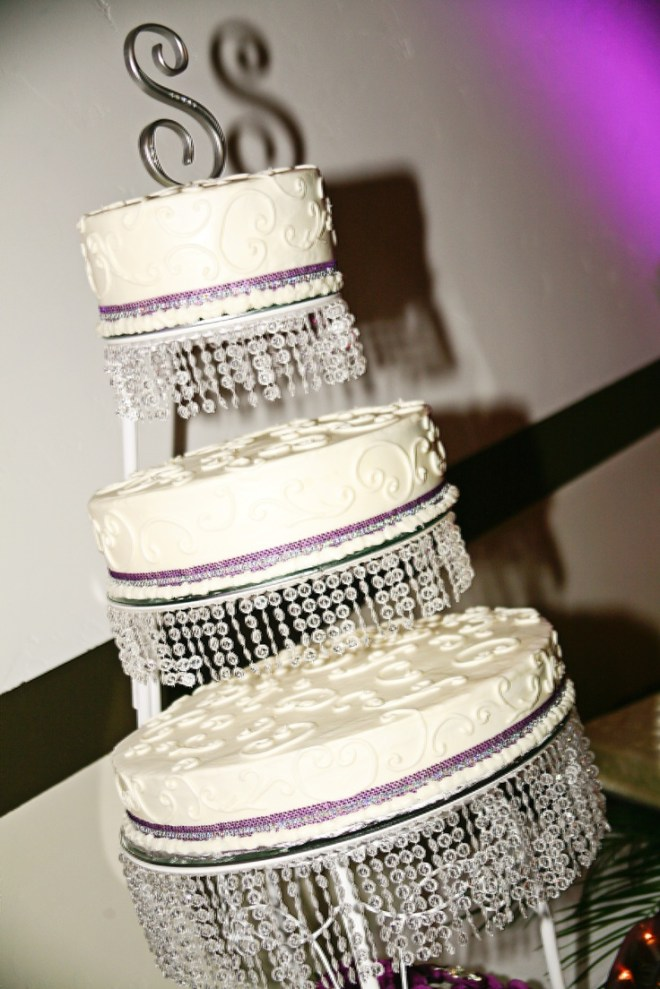 Cake stands crystals and homemade on pinterest