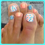 poka dot toenail design nails