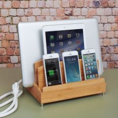 Sofa Arm Tray Wood Print Throws Bamboo Multi Device Charging Station And Cord Organizer ...