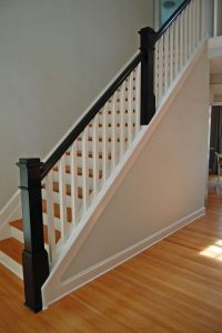 25+ best ideas about Wood stair railings on Pinterest