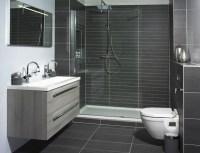 dark grey shower tiles | Bathroom | Pinterest | Tiled ...
