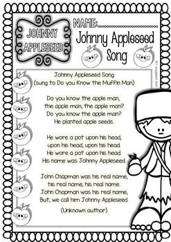 Johnny appleseed, Printables and Reading on Pinterest