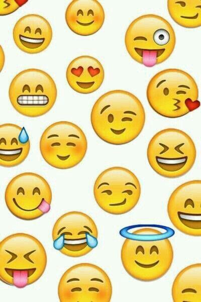 Super Cute Emoji Wallpapers Emoticones Fondos Para Celular Y Whatsapp Pinterest