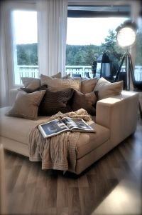 oversized comfy chair, would love to just curl up on it ...