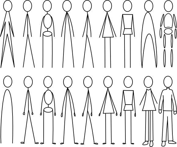 17 Best images about Cartoon-Stick Figures on Pinterest