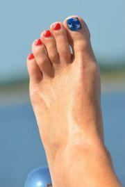ideas blue toe nails