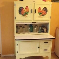 Kitchen Buffet Hutch Cupboards Lights Hoosier Cabinet | Roosters Pinterest Cabinets, I Love ...