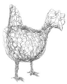249 best images about Chicken Wire Art on Pinterest