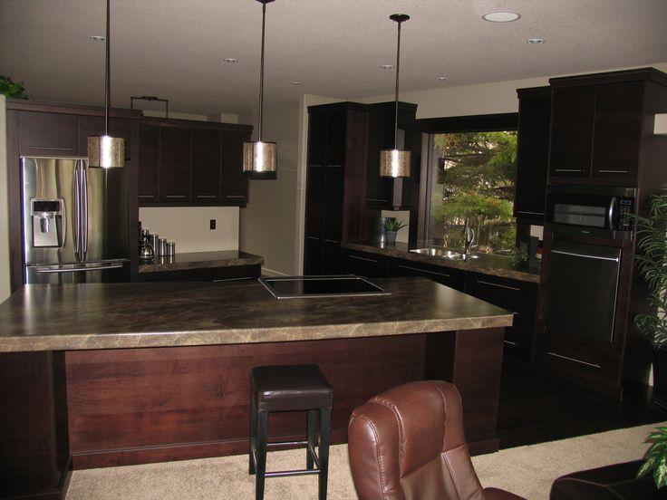 Kitchen Cabinets Maple Espresso Countertops Formica Laminate Slate Sequoia