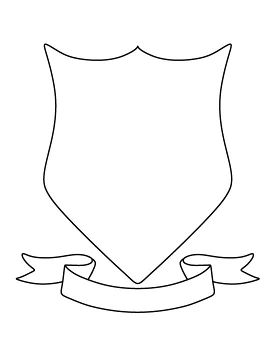 Coat of arms pattern. Use the printable outline for crafts