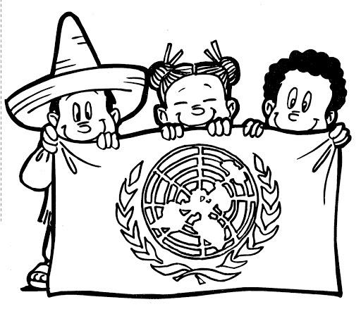 Pinto Dibujos: Bandera de las naciones unidas para