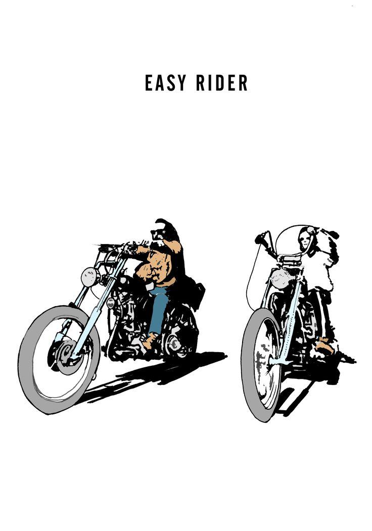 Easy Rider Draw #easyrider #draw #movie #poster #
