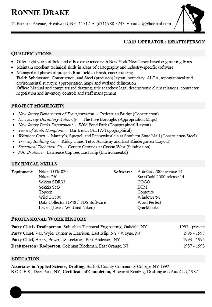 Drafting Resume Examples Examples of Resumes