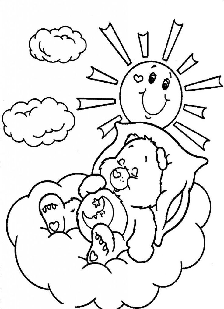 226 best images about Care Bears Coloring Sheets on