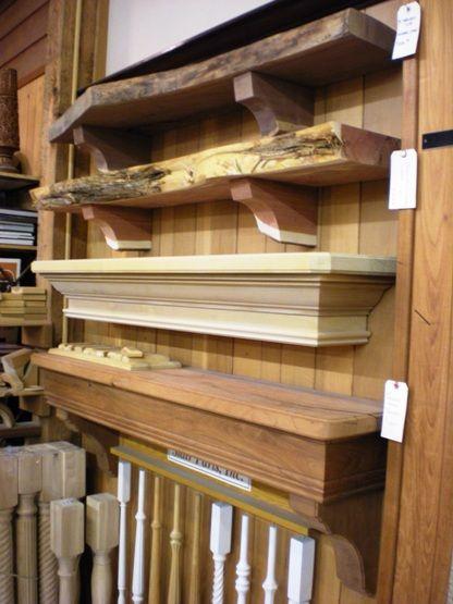alamo hardwoods  san antonio  fireplace mantels slab natual edge box style cedar mesquite