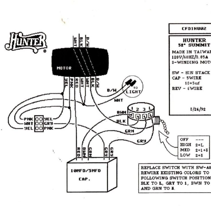Hunter Ceiling Fan 99122 Remote Wiring Diagram