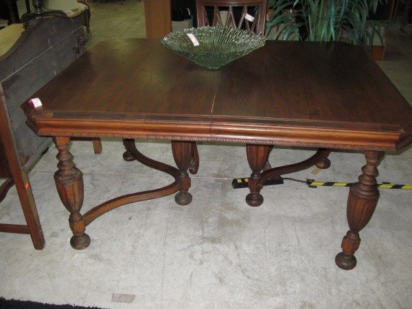 Dining Room Table Antique Walnut Jacobean Legs This is