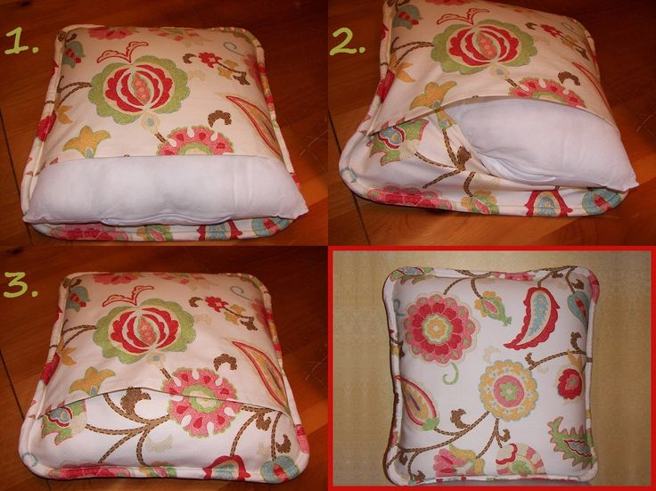 Howto Make a SelfWelted Envelope Pillow Cover  Todays
